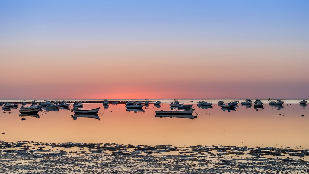 Low tide Sanlucar de barrameda av Guillermo Alonso